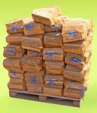 Kaminholz Birke Sackware ab Lager 129,00€/Palette bestellen